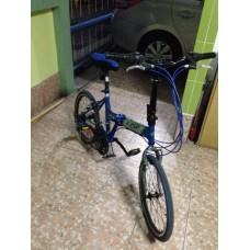 ขายจักรยานพับ k pop สีฟ้ามีเกียร์ 21 speed สภาพสวยพร้อมใช้งาน